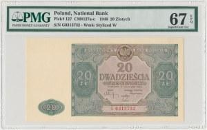 20 złotych 1946 - G - duża litera - PMG 67 EPQ