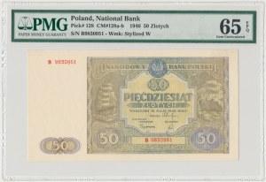 50 złotych 1946 - B - mała litera - PMG 65 EPQ