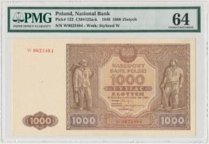 1.000 złotych 1946 - W - PMG 64