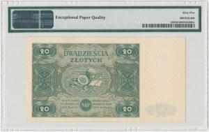 20 złotych 1947 - Ser.C - PMG 65 EPQ