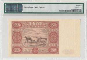 100 złotych 1947 - Ser.A - duża litera - PMG 64 EPQ