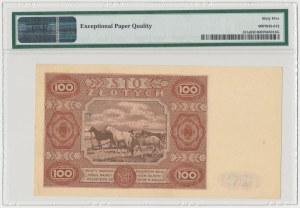 100 złotych 1947 - Ser.G - mała litera - PMG 65 EPQ