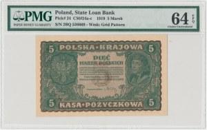 5 mkp 08.1919 - II Serja BQ - PMG 64 EPQ