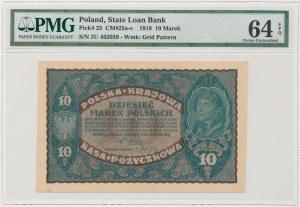 10 mkp 08.1919 - II Serja U - PMG 64 EPQ