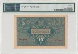 10 mkp 08.1919 - II Serja Q - PMG 64 EPQ