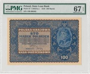 100 mkp 08.1919 - IJ SERJA R - PMG 67 EPQ