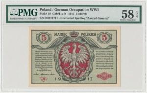Generał 5 mkp 1916 ...biletów - B - PMG 58 EPQ