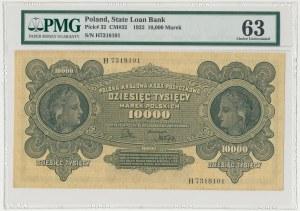 10.000 mkp 1922 - H - PMG 63