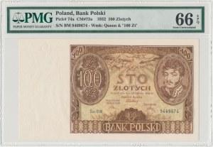 100 złotych 1934 - Ser.BM. - +x+ w znaku wodnym - PMG 66 EPQ