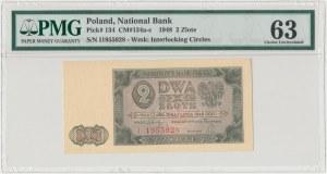 2 złote 1948 - I - PMG 63