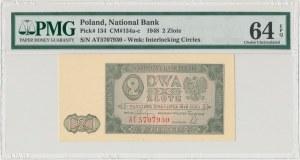 2 złote 1948 - AT - PMG 64 EPQ