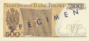 500 złotych 1974 - A - nadruk SPECIMEN tylko na rewersie