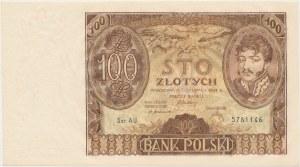 100 złotych 1932 - Ser. AU. - dwie kreski w znaku wodnym