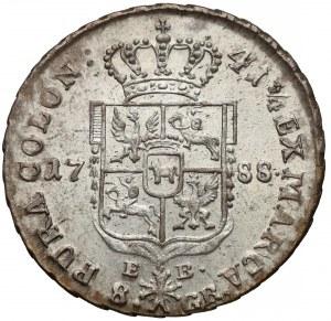 Poniatowski, Dwuzłotówka 1788 E-B. - bez kropki