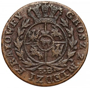 Poniatowski, Grosz 1788 E.B. - Z MIEDZI KRAIOWEY