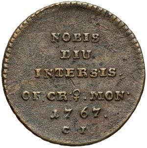 Poniatowski, Trojak HISTORYCZNY 1767 C.I. - Nobis Diu Intersis - RZADKOŚĆ