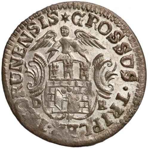 August III Sas, Trojak Toruń 1763 DB - PIĘKNY