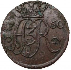 August III Sas, Szeląg Toruń 1760 - ładny