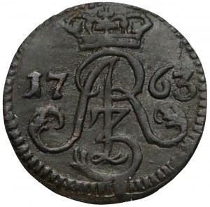 August III Sas, Szeląg Toruń 1763 - ładny