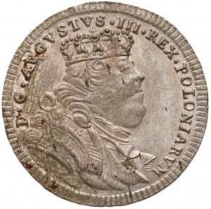 August III Sas, Półtorak Lipsk 1755 EC - rzadki