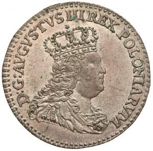 August III Sas, 1/2 szóstaka (trojak) Lipsk 1753 - 1/2 Sz - ŁADNY