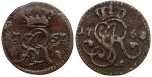 Poniatowski, Szelągi 1767 i 1768, zestaw (2szt)