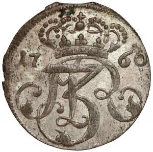 August III Sas, Trojak Gdańsk 1760 REOE