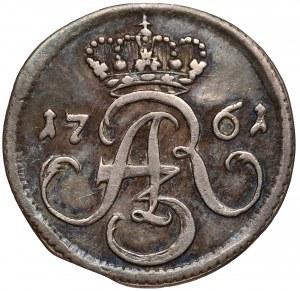 August III Sas, Szeląg Gdańsk 1761 - czyste srebro