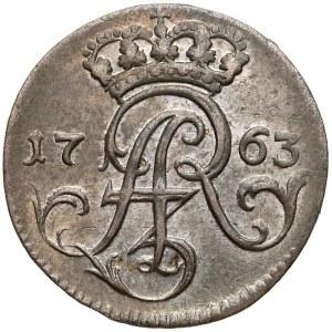 August III Sas, Trojak Elbląg 1763 FLS - b. ładny