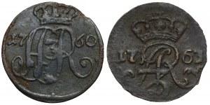 August III Sas, Szelągi Toruń 1760 i Elbląg 1763 (2szt)