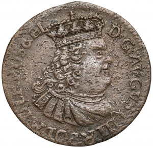 August III Sas, Szóstak Toruń 1763 - bez liter - rzadki
