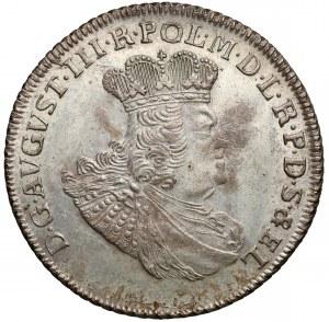 August III Sas, Złotówka 1763 REOE - krótkie gałązki - b. ładny