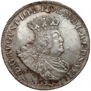 August III Sas, Złotówka (Gulden) 1763 REOE - długie gałązki