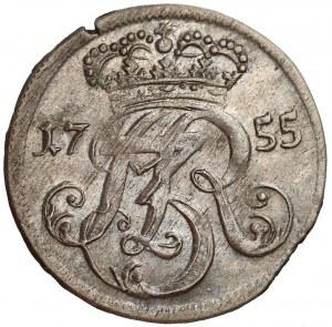 August III Sas, Trojak Gdańsk 1755 - niższa korona