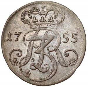August III Sas, Trojak Gdańsk 1755 - wyższa korona