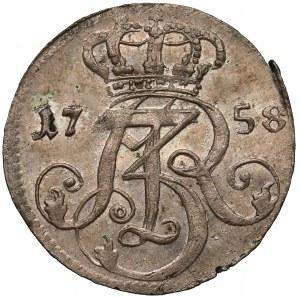 August III Sas, Trojak Gdańsk 1758 - menniczy