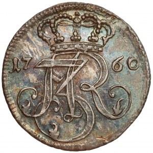 August III Sas, Trojak Gdańsk 1760 REOE - CZYSTE srebro