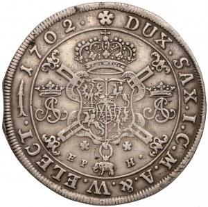 August II Mocny, Talar Lipsk 1702 EPH - z Orderem Słonia - rzadki