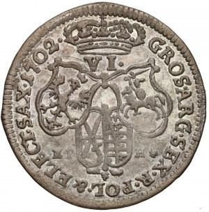 August II Mocny, Szóstak Lipsk 1702 EPH - bardzo ładny