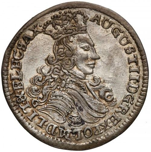 August II Mocny, Szóstak Moskwa 1706 LP - Ludu Płacz - PIĘKNY