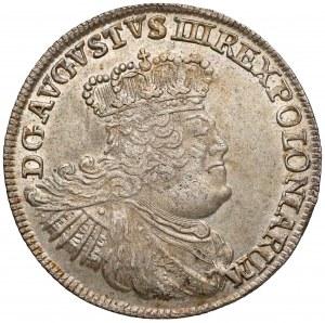 August III Sas, Dwuzłotówka Lipsk 1753 - b. ładna