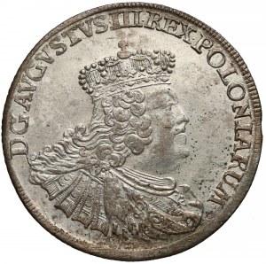 August III Sas, Ort Lipsk 1756 EC - mała głowa - piękny