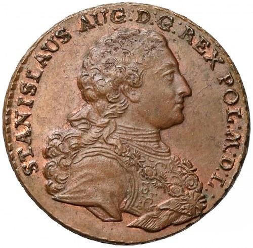 Poniatowski, Trojak Kraków 1765-g - zbrojarz - OKAZOWY
