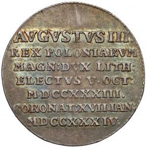 August III Sas, Żeton koronacyjny 1734 r.