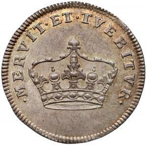 August III Sas, Żeton koronacyjny 1734 - piękny