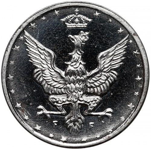 Królestwo Polskie, LUSTRZANE 10 fenigów 1918 - rzadkość