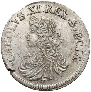 Szwecja, Karol XI, 2 marki 1667