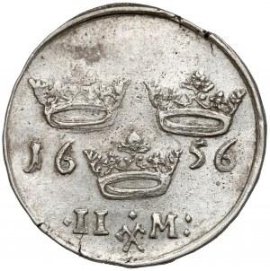 Szwecja, Karol X Gustaw, 2 marki 1656