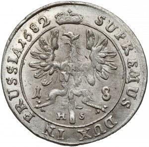 Niemcy, Prusy, Fryderyk Wilhelm, Ort Królewiec 1682 HS - piękny