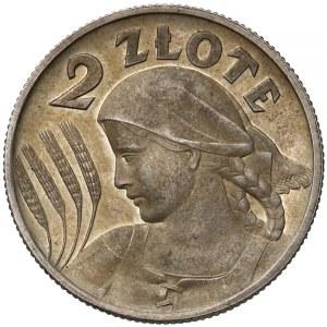 PRÓBA 2 złote 1927 Kobieta i kłosy - awers projektu Lewandowskiego